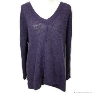 Free People Purple Alpaca Blend Tunic Sweater